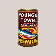 Young's Town 정어리 인 토마토소스 칠리 (레드) Young's Town Sardines in Tomato Sauce with Chili 155g (red)